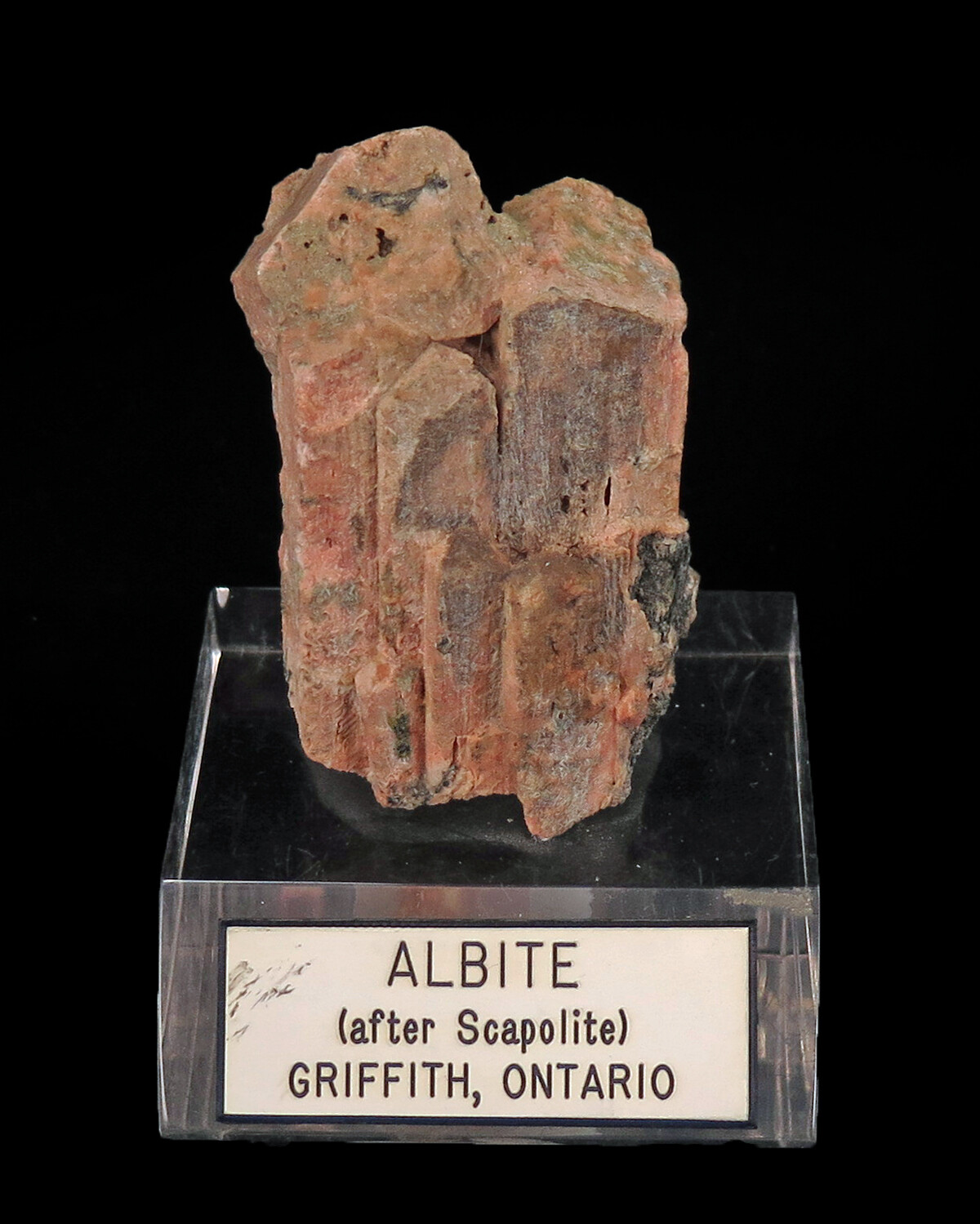 Albite ps  After Scapolite (rare) ex Ed Swoboda Coll