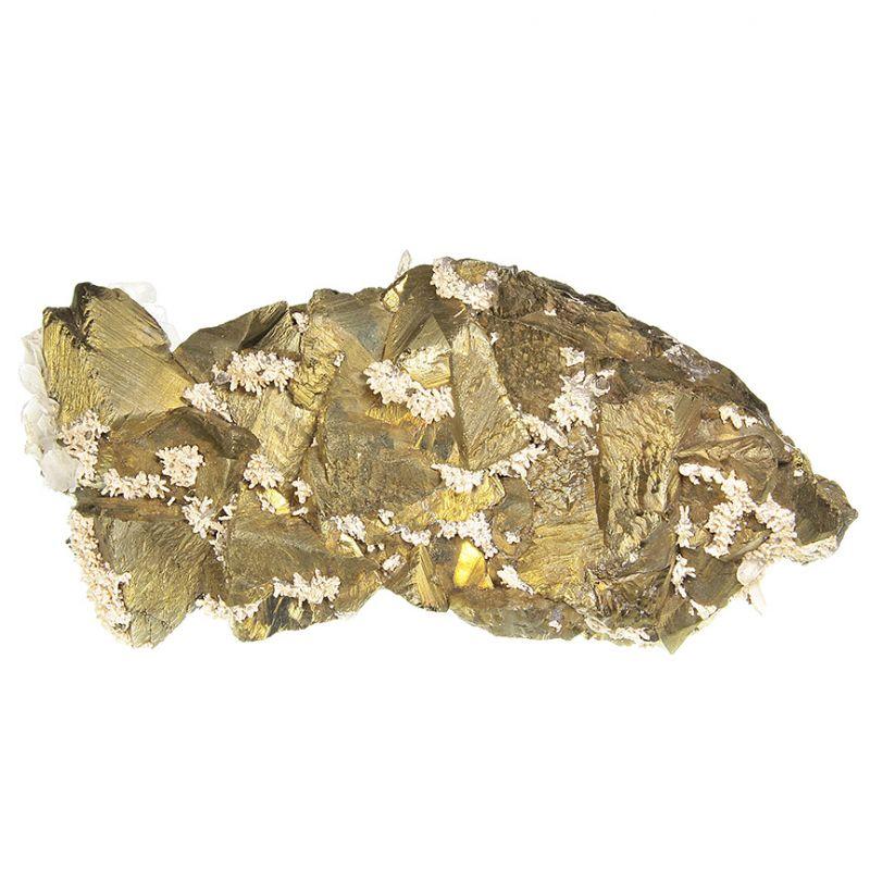 Chalcopyrite with Quartz and Dolomite (big specimen)
