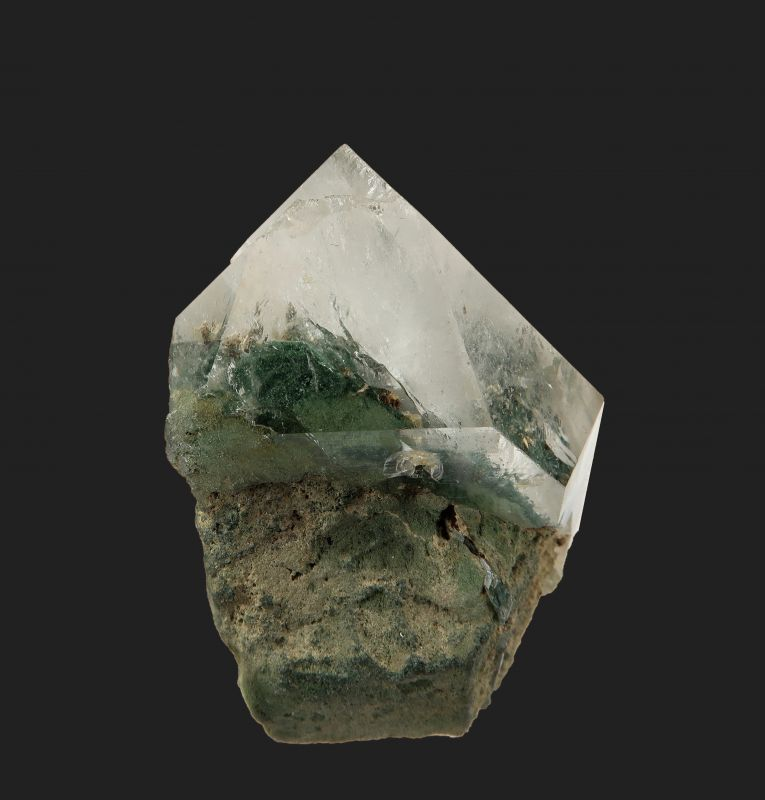 Quartz (twin and scepter) with Chlorite