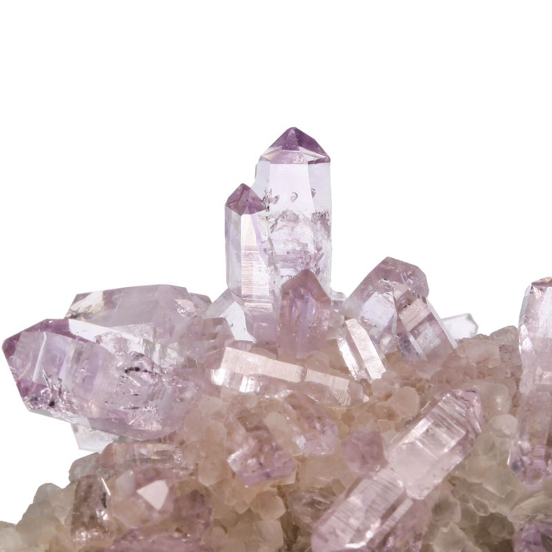 Amethyst (scepters) with Calcite* (*Calcite is rare from Bolivia)