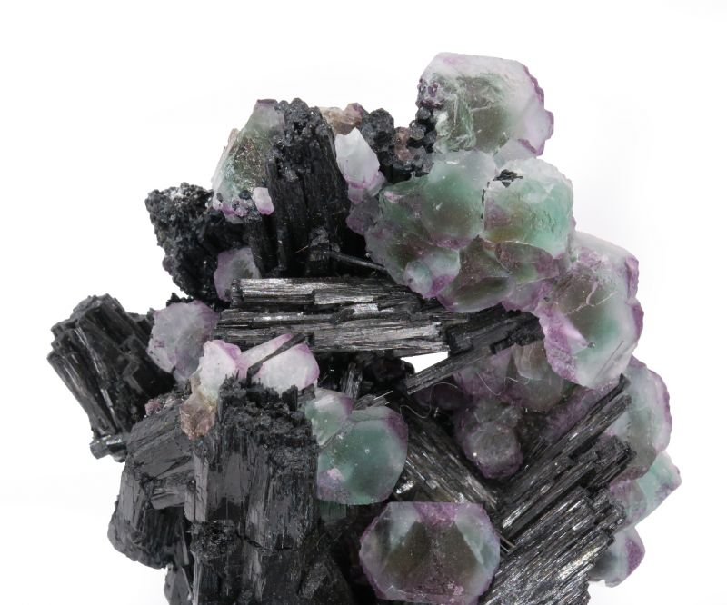 Color-zoned Fluorite & Schorl/Foitite (illustrated) Flynn Coll.