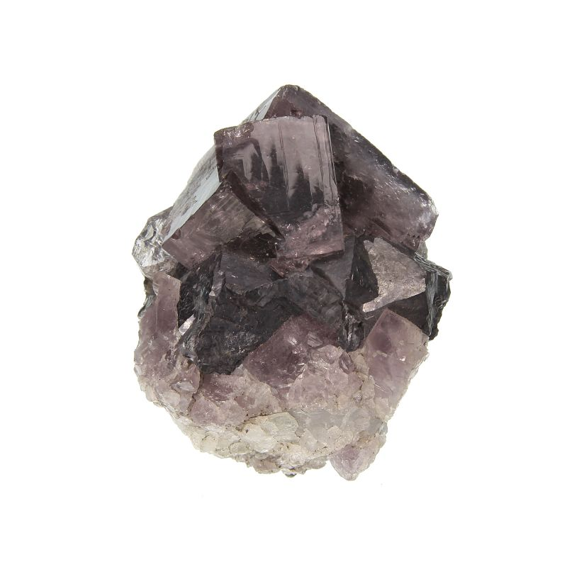 Fluorite (twin) with Galena (old classic) (ex Kay Robertson Collection)