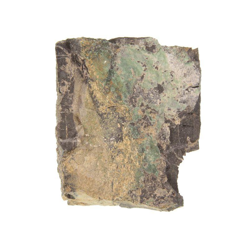 Variscite on slate (very rare locality specimen) (ex Kay Robertson Collection)