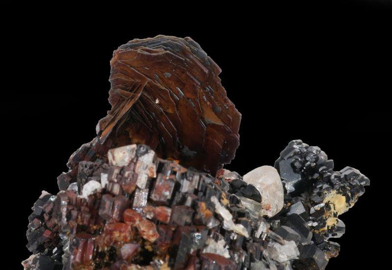 Topaz, Schorl & Goethite ps. Hematite (RARE) Charlie Key