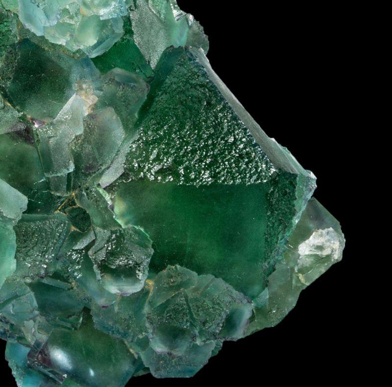 Bi-colored Fluorite (fluorescent)