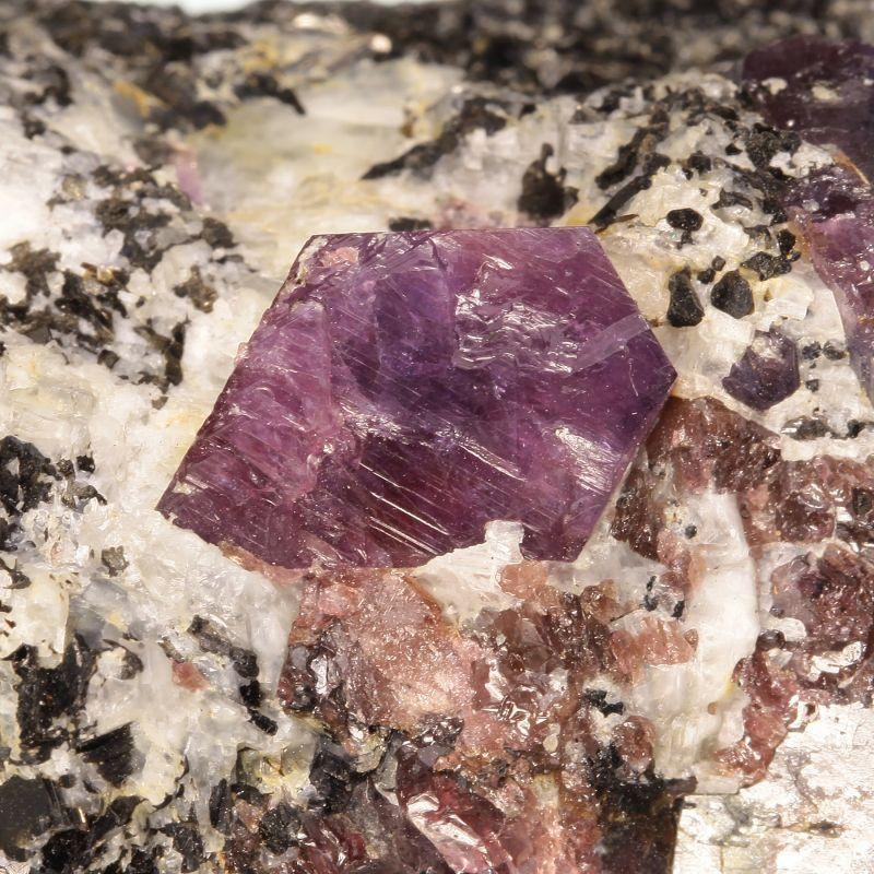 Purple Sapphire on matrix