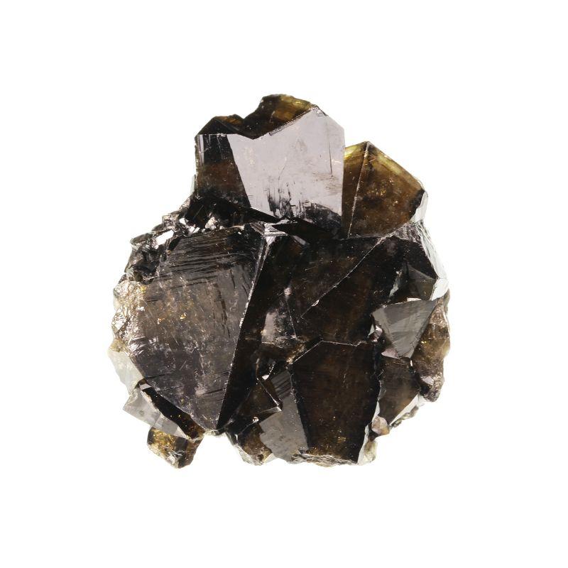 Cassiterite (slightly gemmy cyclic twins)