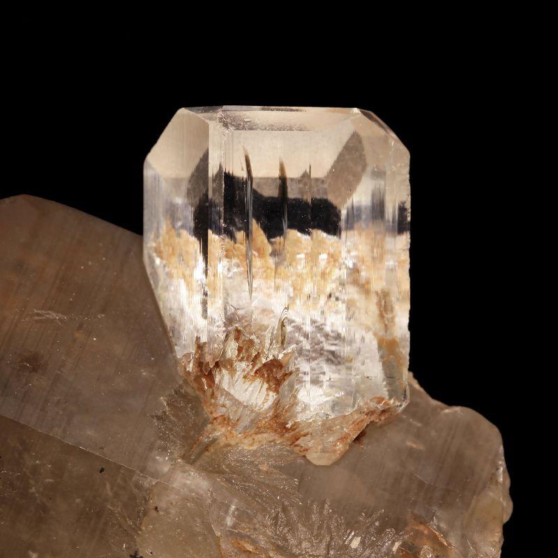 Topaz on Smoky Quartz (ex Shields Flynn Collection)