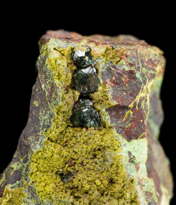 Olivenite & Mottramite (Shields Flynn Coll.)