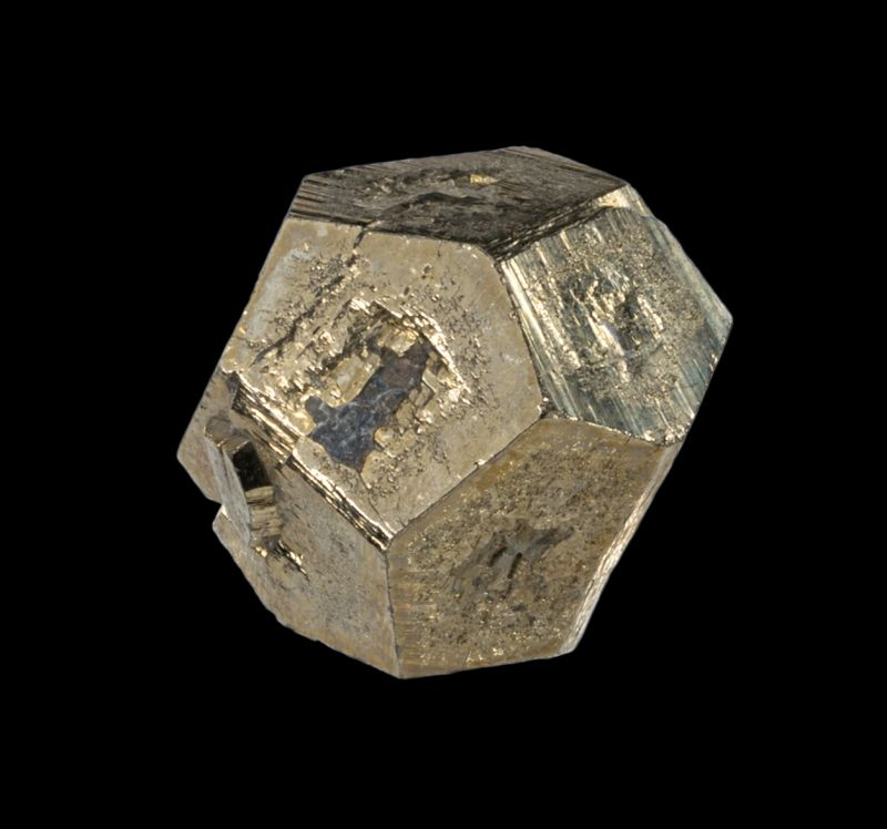 Sharp Pyrite pyritohedron floater (classic locale)