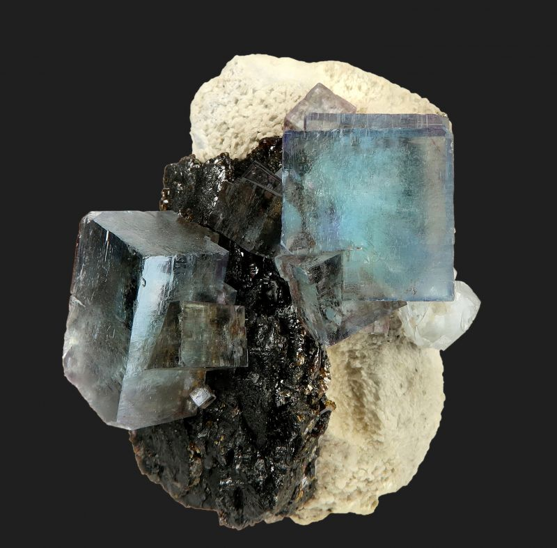 Fluorite (fluorescent) and Sphalerite
