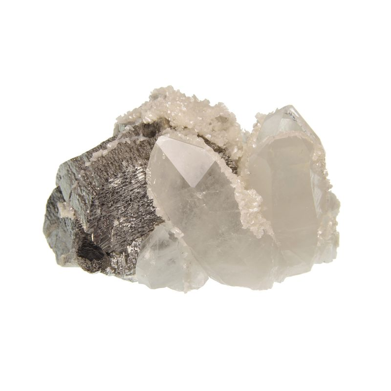Arsenopyrite with Quartz and Dolomite (ex Dr. Stephen Smale Collection)