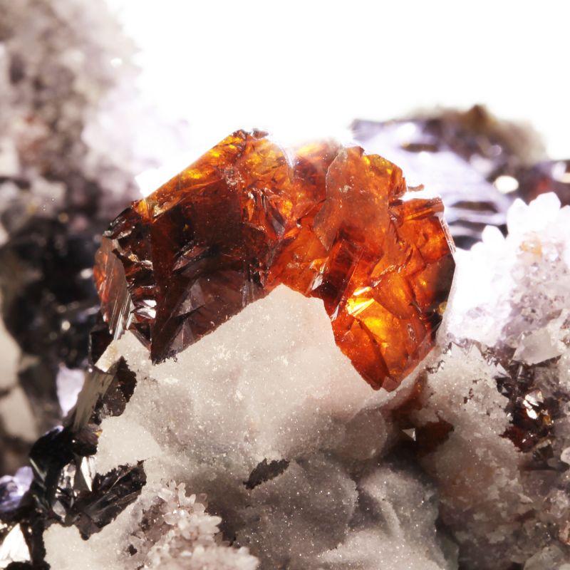 Sphalerite (excellent gemmy crystals) (ex Dr. Stephen Smale Collection)