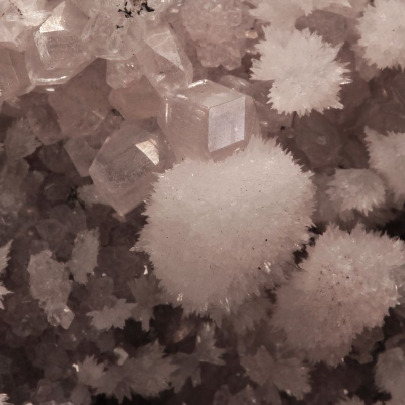 Strontianite on Calcite (ex David Burgess Collection)