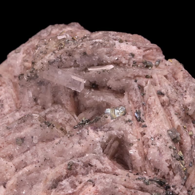 Chalcopyrite and Calcite on Barite (ex Kay Robertson Collection)