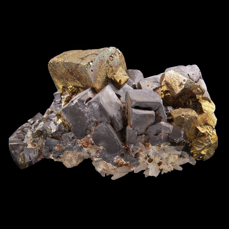 Chalcopyrite with Galena and Sphalerite