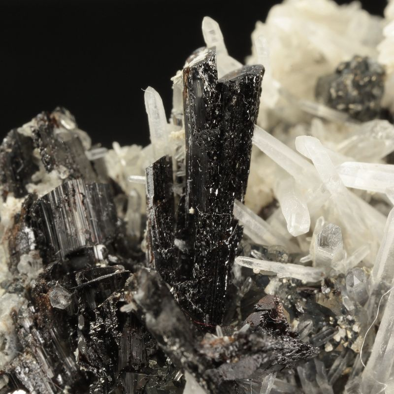 Hubnerite with Quartz and sulfides (ex Richard A. Kosnar Collection)