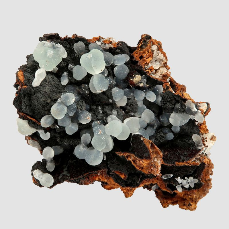 Smithsonite on Goethite