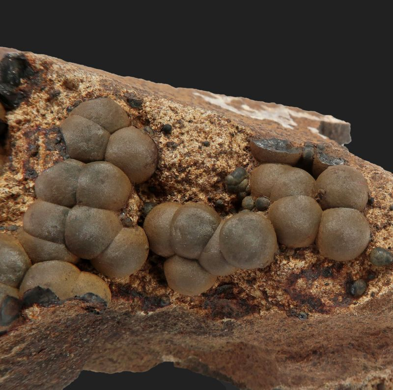 Limonite ps. Siderite (Var: Spharosiderite)- dated 1927