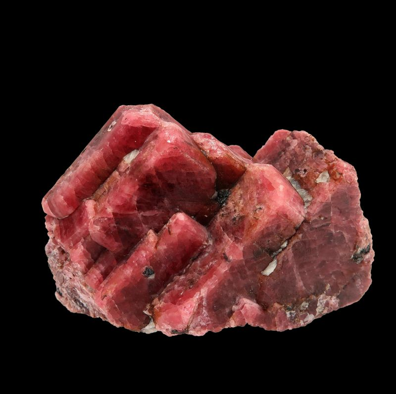Rhodonite with Willemite and Calcite