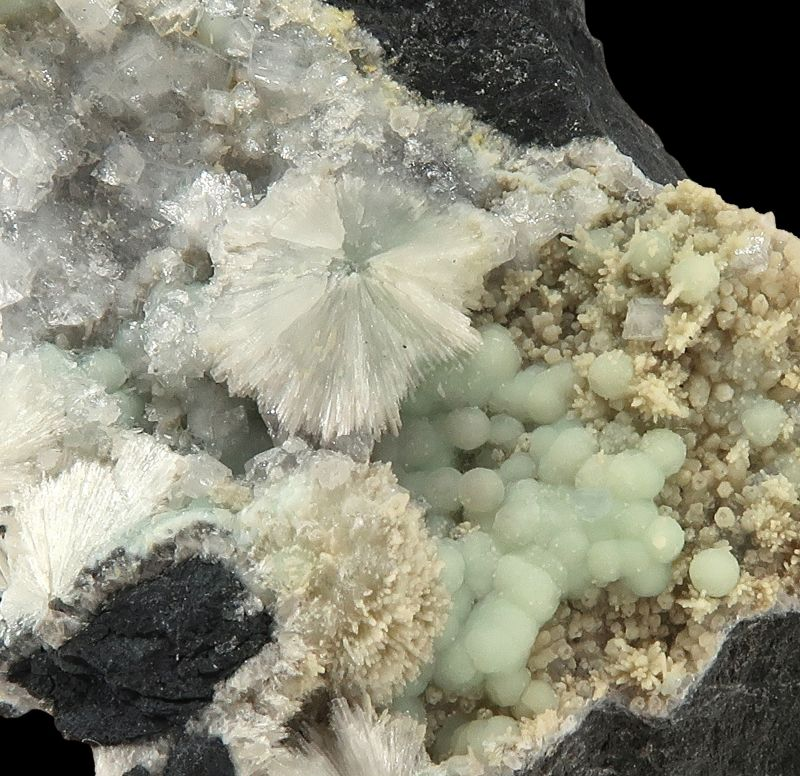 Fluellite and Wavellite (two generations)