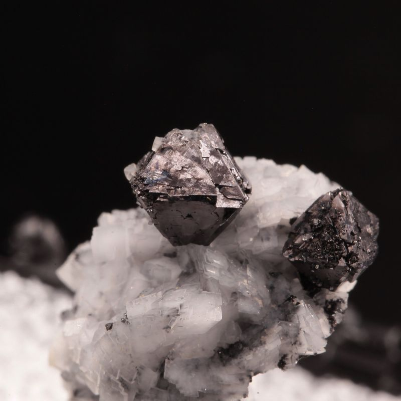 Magnetite on Dolomite (hard to find material) (ex Kay Robertson Collection)