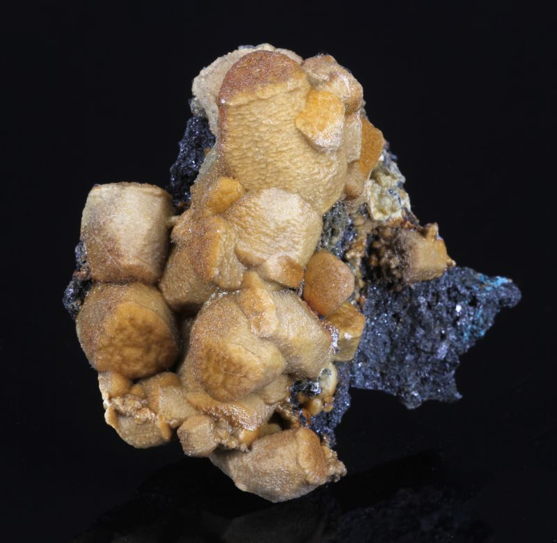Siderite casts after Calcite with Sphalerite