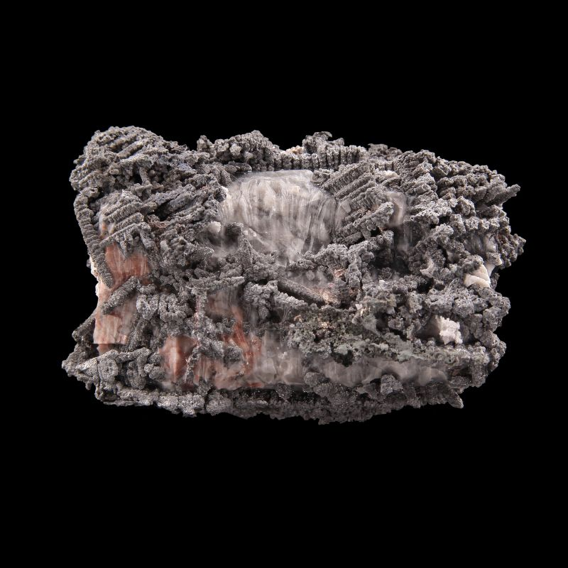 Silver with Safflorite and Calcite (ex Durkos, Hauck, Lemanski Collections)