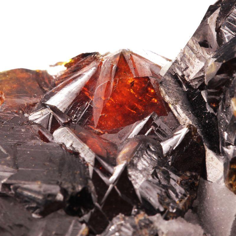 Sphalerite (fine gemmy crystals) on Quartz (ex Chet Lemanski Collection)