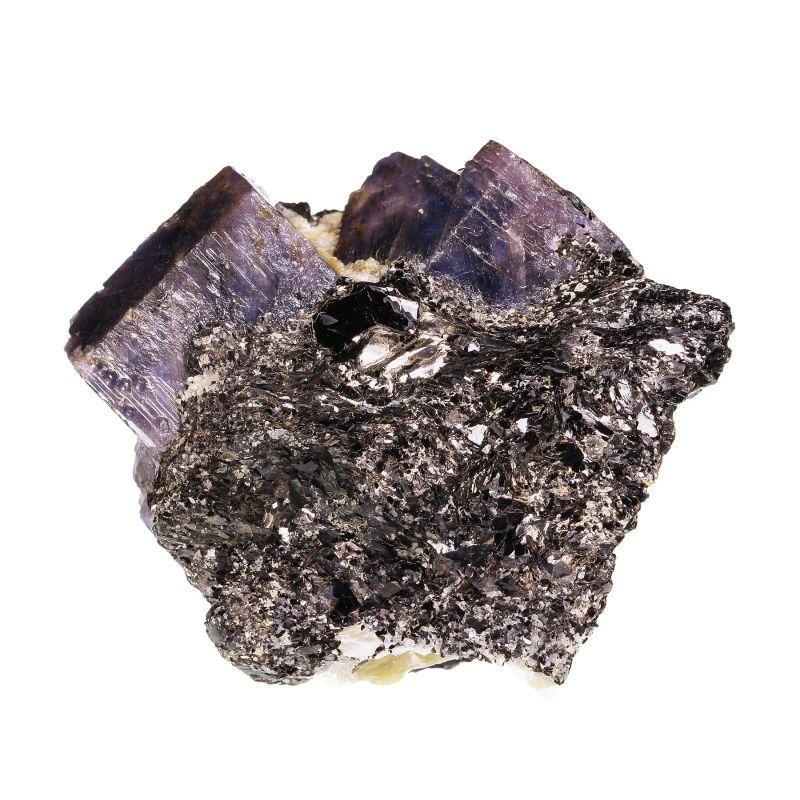 Sapphire (bi-color crystals) on matrix