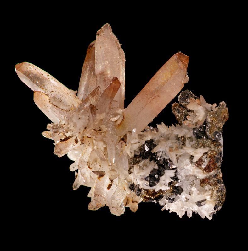 Quartz with Sphalerite (Steve Schwab Coll.)